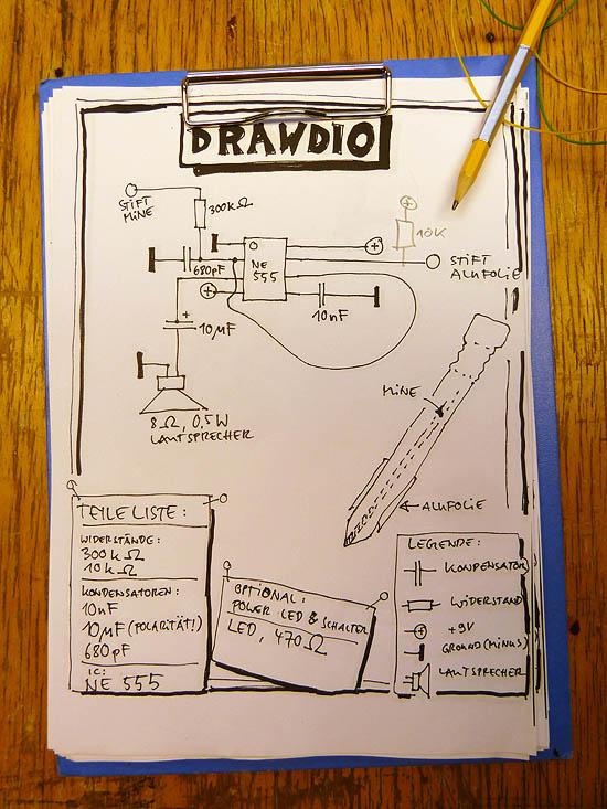 Drawdio circuit
