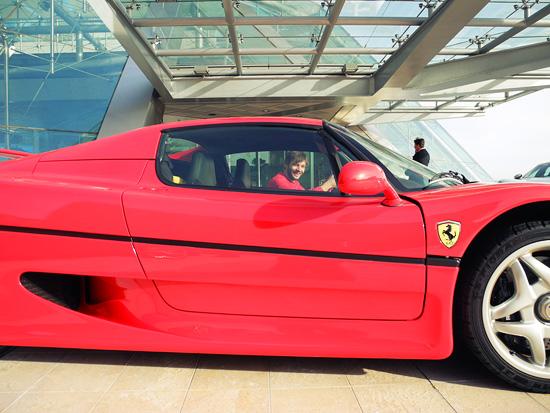 me in a Ferrari