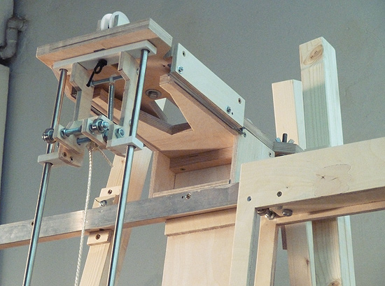 Detail of the painting machine's X- and Y-mechanism