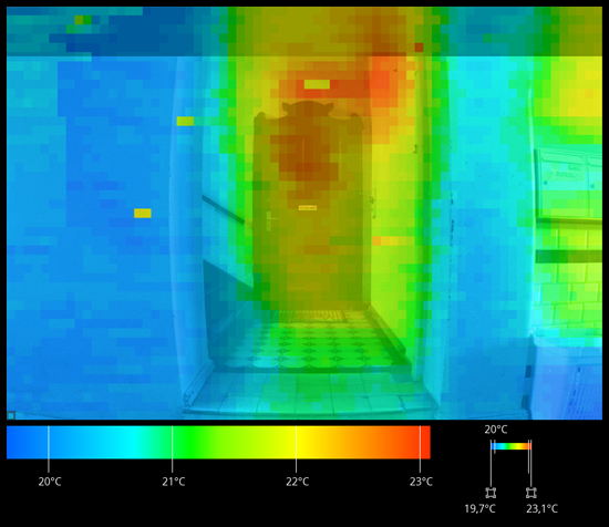 IR image of the front door